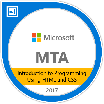 MTA for HTML and CSS badge